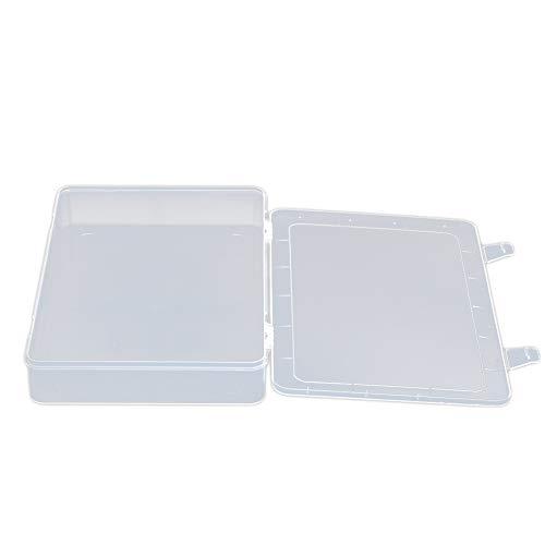 XJF Caja de bordado de diamantes, caja de almacenamiento de cuentas para joyas, pendientes, contenedor de herramientas transparente (33,5 x 23,3 x 5,7 cm)