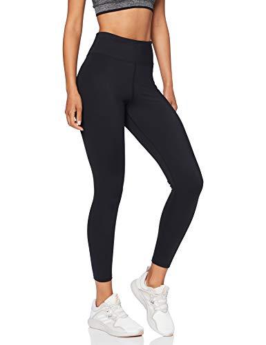 Amazon-Marke: AURIQUE Damen Sportleggings mit hohem Bund, Schwarz (Black), 38, Label:M