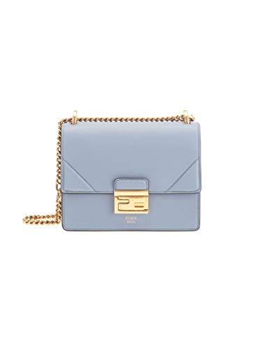Luxury Fashion | Fendi Dames 8BT312A5DYF19T4 Blauw Leer Schoudertassen | Lente-zomer 20