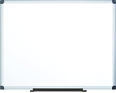 "MasterVision Maya Melamine Dry Erase Board with Tray, 48"" x 72"", Whiteboard with Aluminum Frame"