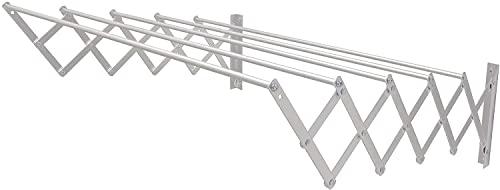Tendedero Extensible Pared Aluminio Compacto para Exterior e Interior (100 cm)