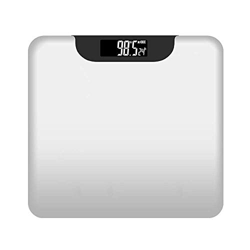 L.BAN Digital våg, ultratunn elektronisk våg med hög precision, med USB-laddning, härdat glas ABS-plast, vikt 180 kg, för viktväktare, vit
