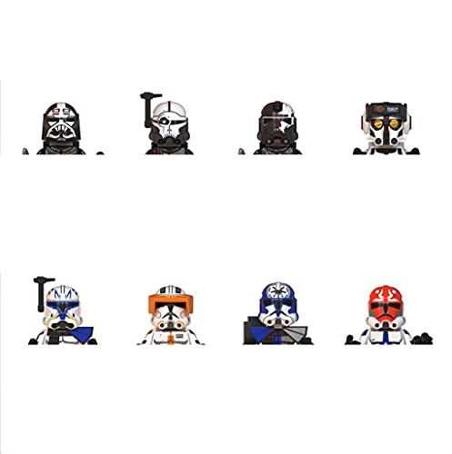 xinyan 8 unids/set Star Space Wars Clone Force 99 Wrecker Crosshair Hunter Tech Bad Batch Rex figuras de acción minifigura bloques de construcción Kid regalo negro