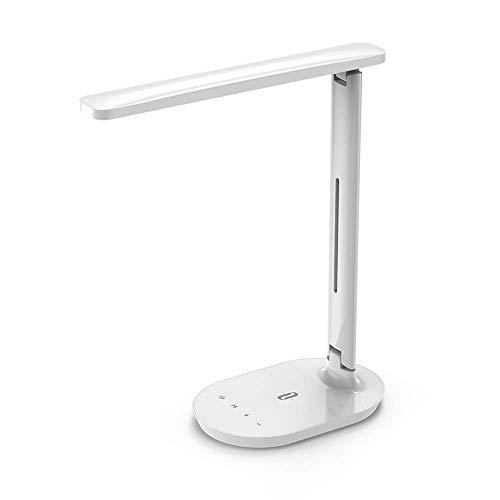 Lampada da Scrivania a LED TaoTronics, Lampada da Tavolo, Lampada per Ufficio Dimmerabile con Controllo Touch e 5 Modalità di Illuminazione, Bianco