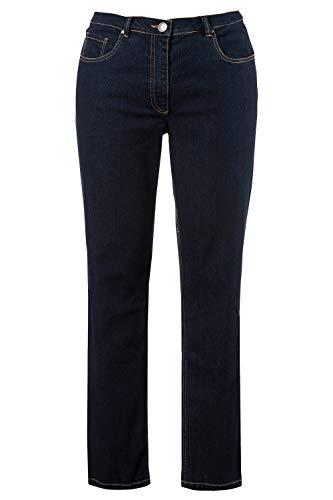 ULLA POPKEN Jeans Regular Fit Stretch, K Pantaloni, Blu (Bleached 92), 54 Donna