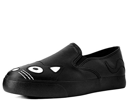 T.U.K. Shoes Damenschwarzer Schnappschühneaker EU36