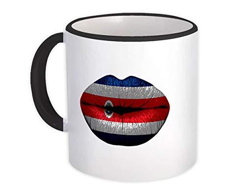 Labios Bandera de Costa Rica : Taza de Regalo : Costa Rica País de expatriados