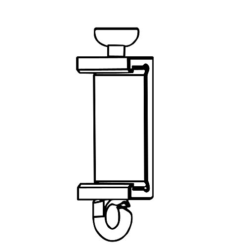 Clips Für Premium Paneelwagen mit den Maßen 25x2,5mm | Farbe weiß | zum Aufklipsen auf das Paneelwagenprofil (je Paar) (Teller-Gleiter 4-6mm)