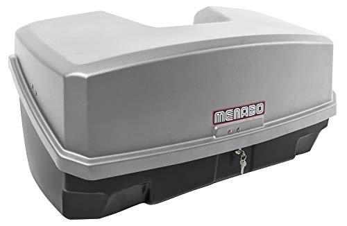 Ménabo Nekkar Silber Transportbox Gepäckbox für Kupplungsträger Heckträger 300 Liter