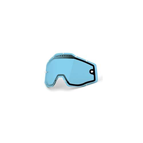 Mx Goggle Lens 100 Percent Racecraft-Accuri-Strata Vented Dual Lens Azul Anti-Fo (Default , Azul) ⭐