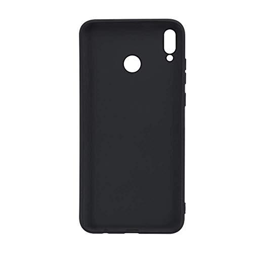 Capa para Huawei Honor 8X Max, resistente a arranhões, capa traseira de TPU macia à prova de choque, borracha de gel de silicone, antiimpressões digitais, capa protetora de corpo inteiro para Huawei Honor 8X Max (preto)
