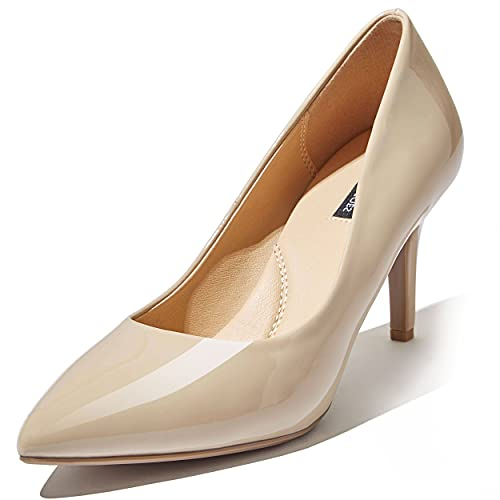 Pumps Toe High Heel Pumps Point Toe Heel Slip On Shoes Pointed Spring Nightclub Party Stiletto Crystal-02 Beige Pt 10