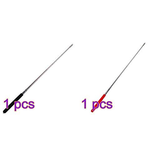 Tinksky Telescopic Teachers Pointer,Teaching Pointer,Hand Pointer Extendable Telescopic Retractable Pointer Handheld Presenter Classroom Whiteboard Pointer, Pack of 2 ( Red + Black )