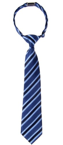 Retreez Jungen Gewebte vorgebundene Krawatte Preppy Gestreifte - blau - 4-7 Jahre