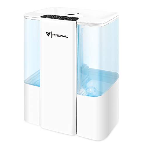 Tenswall Humidificador ultrasónico de 5L, humidificador LED de 7 Colores para el hogar, Yoga, Oficina, SPA, Dormitorio, Apagado automático