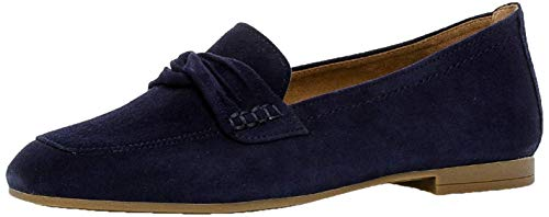 Gabor Damen SlipperMokassins, Frauen Slipper, Freizeit leger schlupfhalbschuh Slip-on College Schuh Loafer businessschuh Damen,Bluette,37 EU / 4 UK