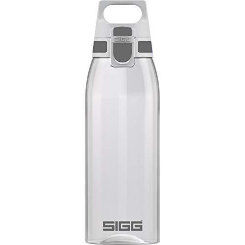 SIGG Total Color Transparent Trinkflasche (1 L), schadstofffreie und auslaufsichere Trinkflasche, leichte und bruchfeste Trinkflasche aus Tritan