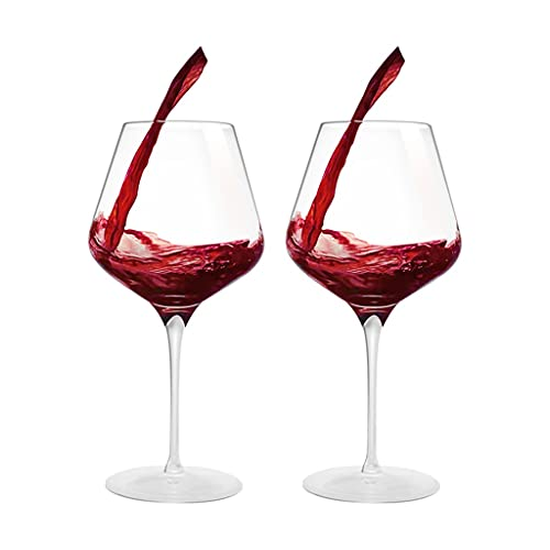 Copas de vino Juego Tinto de 640 ml * 2, Parejas de Restaurante, Copa de Vino de Cristal, Copa de Fiesta, Caja de Regalo, (Color : Clear, Size : 640ml)