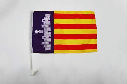 AZ FLAG AUTOFAHNE Mallorca 45x30cm - Mallorca AUTOFLAGGE 30 x 45 cm Auto flaggen