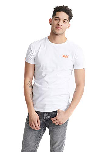 Superdry Herren OL NEON LITE Tee T-Shirt, Weiß (Optic 01C), XXX-Large