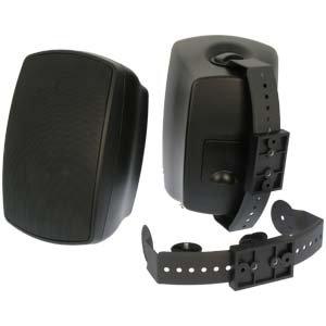 InstallerParts Indoor/Outdoor Wallmount 2-Way Speakers Black BL520 1 Pair (2pc)