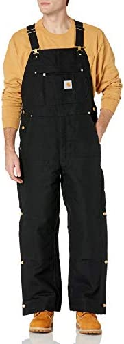 Carhartt Men s Loose Fit Firm Duck Insulated Bib Overall Black Large product image