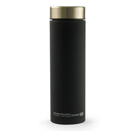 Asobu Le Baton Insulated Vacuum Sealed Stainless Steel Trendy Sport Travel Water and Beverage Bottle 17oz Eco Friendly and Bpa Free (Gold)