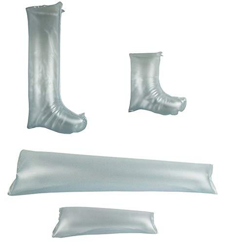 Kit de 4 Férulas hinchables transparentes para piernas y brazos