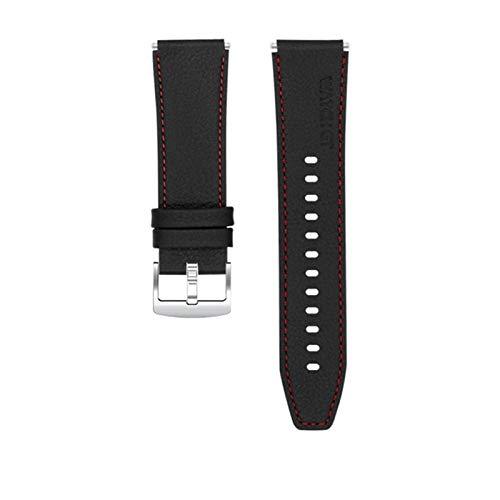CMYYFA Correa de Cuero de Estilo Oficial para Huawei Watch GT 2 Pro Banda Mujeres Hombres Pulsera Correa Smart Watch Accesorios (Band Color : Black, Band Width : For Huawei GT 2e)