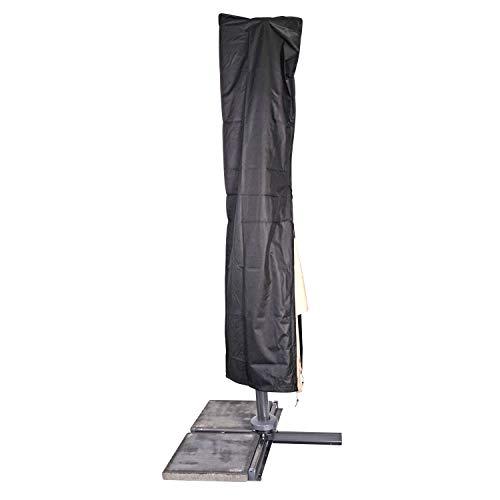 Moritz Premium beschermhoes zwart met stok voor parasol tot een diameter van 3,5 meter of 3 x 3 meter waterdicht 230 x 50/58 cm scherm paraplu tuinmeubelen bescherming beschermfolie