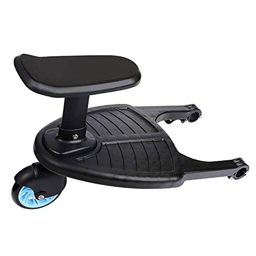 AGRYMER Pedal Auxiliar, Cochecito De Bebé Artefacto Carro De Remolque Asiento para Sentarse Segundo Niño Placa Colgante De Pie para Gemelos Bebé