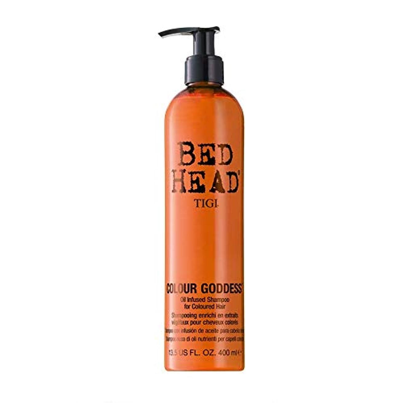 住所葉を集める責任Tigi Bed Head Colour Goddess Oil Infused Shampoo 400ml [並行輸入品]