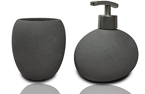 Dispensador de jabón Liquido de Cerámica con Vaso/Dosificador de jabón/Dispensador para Cocina o...