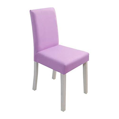 YAYANG Chair Cover Stuhlabdeckung einfarbig Stuhl deckt Spandex Spandex Stretch elastische rutschzüge für Home esszimmer Casual (Color : Light Purple, Specification : Universal)