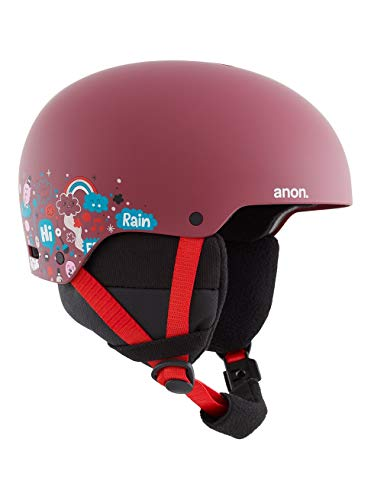 Anon Mädchen Rime 3 Snowboard Helm, Doodle Red, Mittelgroß