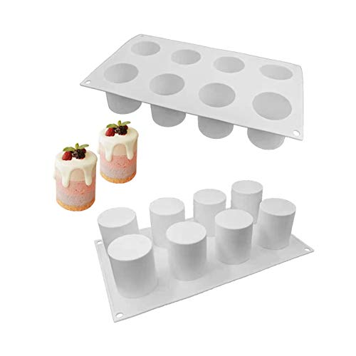 DLRBWAN Seifenbasis Hohe zylindrische Silikonkuchenform Französische Mousse Backutensilien Duft Kerze Handgemachte Seifenform