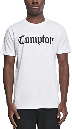 Mister Tee Compton Tee, Herren Streetwear T-Shirt, Weiß, Größe XXL