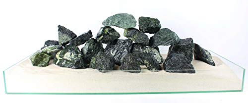 Aquarium Rock Stone Premium Decoratie 100% Natuurlijke Idal fof Aquascaping Malawi Cichlids Fish Tank, 5kg, Green Angel