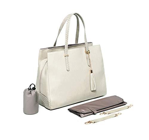 Baby Sense Melaine Mom & Baby Handbag | Fashion + Function Purse & Tote Bag | Large Capacity & Lightweight, Change Mat, Stroller Strap, Waterproof Bottle/Travel Organizer