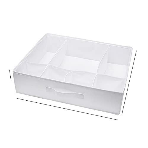 Organizadores de cajones de ropa interior plegables Divisores de almacenamiento Organizador de armario Caja de almacenamiento 24 rejillas para ropa Sujetadores Bufandas Corbatas Calcetines-blanco