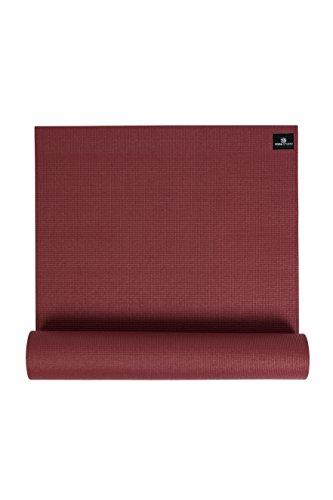 Yoga Studio - Esterilla de yoga (6 mm de grosor) rojo granate