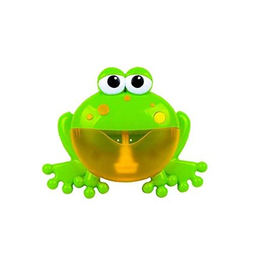 Bebé Baño de espuma de la rana de juguete Bubble Maker Bubble Blower Máquina de burbujas con 12 Canción de cuna bañera de burbujas Juguetes para niños del bebé de los niños 1 Set