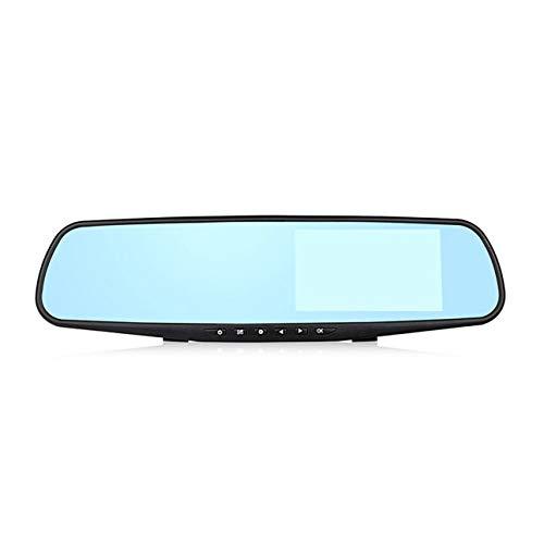 Ba30ITllylelly Videocamera Dash Cam da 3,5 Pollici con specchietto retrovisore per Auto DVR DVR per Auto HD 1080P Videoregistratore Digitale a Specchio con Doppia Lente