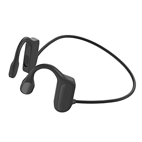 NC Auriculares Deportivos Inalámbricos con Bluetooth 5.0, Tecnología de Conducción Ósea, IPX5 Prueba de Agua, para Ciclismo Correr Gimnasio - Negro