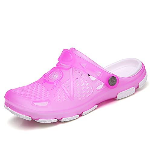 FDSVCSXV, scarpe classiche da donna, zoccoli da spiaggia, da giardino, a prova di acqua, scarpe casual, rosa, 40