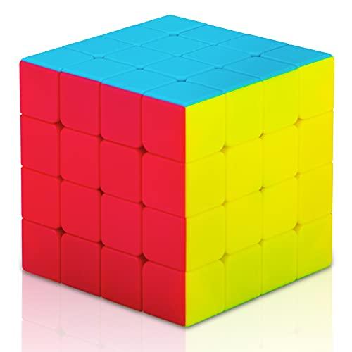 KidsPark Speed Cube 4x4, Smooth Magic Cube 4x4x4 Stickerless 3D Puzzle Cube Speed Magic Puzzle Cube...