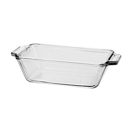 Anchor Hocking 1.5 quart Glass Loaf Pan, Clear