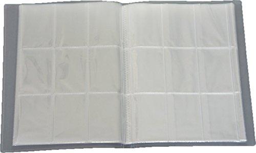 Leere Sammelmappe - 24 Seiten (432 Karten) - Ideal für Sammel Bilder/Karten - Farbe Neutral