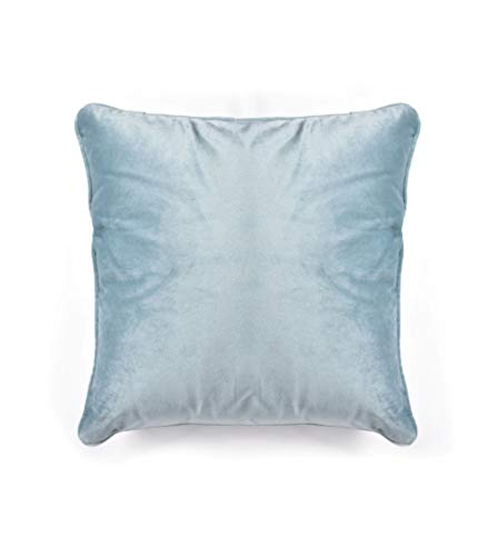 Soft French Velvet Large Cushion Cover in Duck Egg 55cm x 55cm with Piped Edges