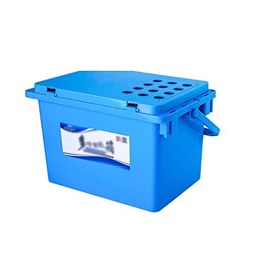 DALIZHAI777 Angelkoffer Multifunktionaler Angeleimer Verdickter Dose Angeln Eimer Fischbox Angelhocker Angelstuhl Angeln Eimer Fisch Schutz Eimer Angelzubehör (Color : Blue)
